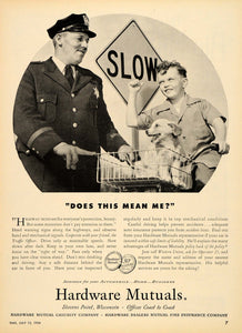 1954 Ad Hardware Mutual Casualty Insurance Accidents - ORIGINAL ADVERTISING TM3