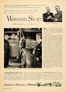 1954 Ad Employers Mutuals Insurance Wausau Story Roehl - ORIGINAL TM3