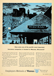 1955 Ad Employers Mutuals Wausau Everett McNear - ORIGINAL ADVERTISING TM3