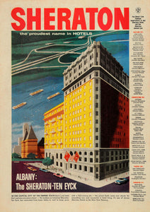 1957 Ad Sheraton-Ten Eyck Hotel Albany New York Thruway - ORIGINAL TM3