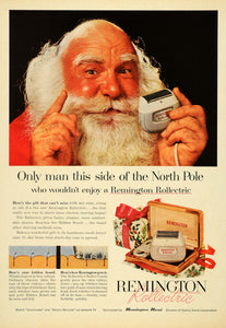 1967 Ad Remington Rollectric Razor Shave Santa - ORIGINAL ADVERTISING TM3