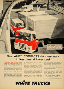 1961 Ad White Compact Trucks Hauling Trailer Mustang - ORIGINAL ADVERTISING TM3