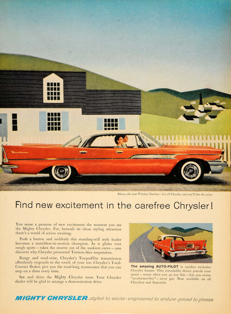 1958 AdChrysler Windsor Dartline Torsion-Air Suspension - ORIGINAL TM3