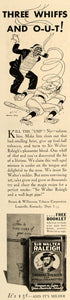 1935 Ad Brown Williamson Walter Raleigh Tobacco Umpire - ORIGINAL TM4