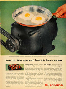 1956 Ad Anaconda Co. Magnet Wire Insulation Fried Eggs - ORIGINAL TM5