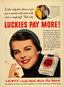 1950 Ad Lucky Strike Cigarettes Malcolm M. Mac Hassel - ORIGINAL ADVERTISING TM5