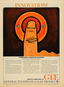 1965 Ad General Electronic Pushbutton Phone Doorbell - ORIGINAL ADVERTISING TM6