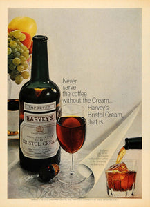 1965 Ad Harvey Bristol Cream Heublen Inc Liquor Bottle - ORIGINAL TM6
