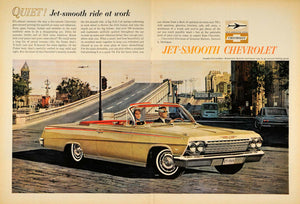 1962 Ad Jet-Smooth Chevrolet Impala Convertible Fisher - ORIGINAL TM7