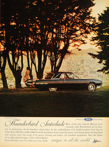 1962 Ad Thunderbird Landau Interlude Ford Car Hardtop - ORIGINAL ADVERTISING TM7