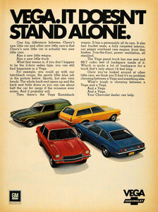 1971 Ad Vega Kammback Wagon 2 Door Coupe Chevrolet Cars - ORIGINAL TM7
