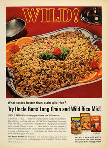 1963 Ad Uncle Bens Long Wild Rice Mix Flavor Nugget - ORIGINAL ADVERTISING TM7