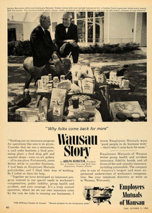 1963 Ad Employers Mutuals of Wausau Adolf Bernstein - ORIGINAL ADVERTISING TM7