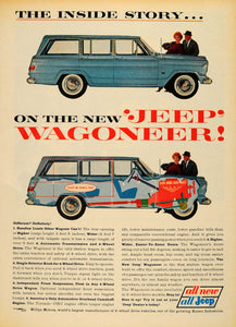 1963 Ad Jeep Wagoneer Overhead Camshaft Engine Kaiser - ORIGINAL ADVERTISING TM7 - Period Paper