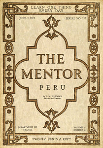 1917 Cover The Mentor Peru Pizarro E. M. Newman Arts & Crafts Design TMM1