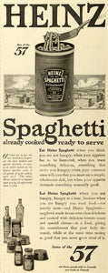 1918 Ad Heinz Spaghetti H J Heinz Co Canned Food Products Factory Building TMP2