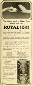 1918 Ad Royal Baking Powder Prune Cake Conservation Waffle Food Recipes TMP2