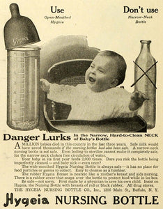 1919 Ad Hygeia Nursing Bottle 1206 Main Street Buffalo NY Infant Happy Baby TMP2