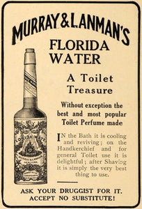 1909 Ad Toilet Treasure Murray Lanmans Florida Water - ORIGINAL ADVERTISING TOM1