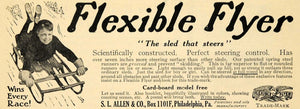 1910 Ad S L Allen Flexible Flyer Trade-Mark Sled Toy - ORIGINAL ADVERTISING TOM1