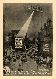 1912 Ad Great White Way Times Square White Rock Water - ORIGINAL TOM1