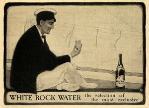 1903 Ad White Rock Water Sparkling Sailor Exclusive - ORIGINAL ADVERTISING TOM1