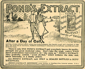1902 Ad Pond's Extract Day of Golf Skin Fatigue Relief - ORIGINAL TOM2