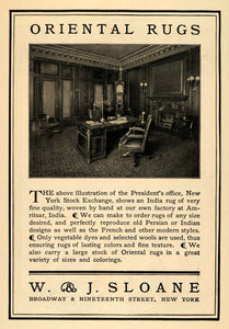 1904 Ad W & J Sloane Oriental Rugs Office Room Decor - ORIGINAL ADVERTISING TOM2