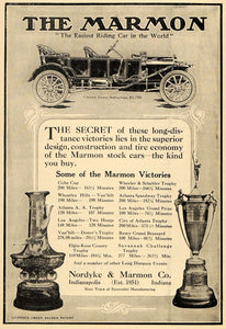 1911 Ad Marmon Car Nordyke Suburban Trophy Wheatley - ORIGINAL ADVERTISING TOM3 - Period Paper
