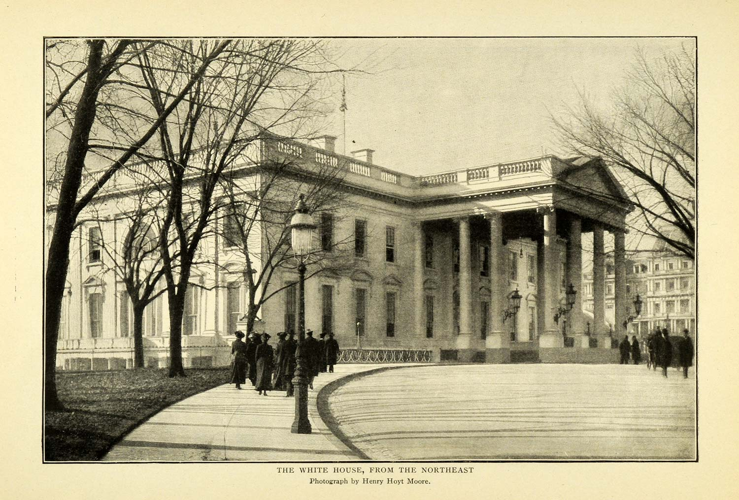1902 Print White House Architecture Design Structure Building Henry Hoyt TOM3