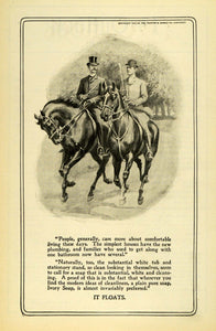 1903 Ad Procter & Gamble Co Ivory Toilet Soap Horseback Riding Cincinnati TOM3