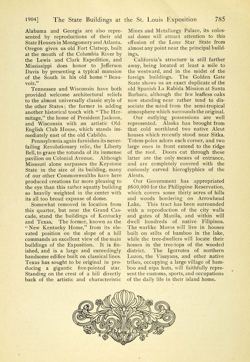 1904 Article Louisiana Purchase Exposition St Louis Worlds Fair State TOM3