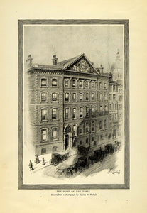 1908 Print New York Times Building Horse Drawn Carriages Harley D. Nicholas TOM3