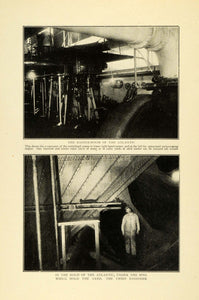 1909 Print Interior Atlantic Dredge Ship Engine Room Pumps Chief Engineer TOM3