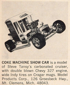 1970 Ad Coke Machine Show Car Toy Model Steve Tansy - ORIGINAL ADVERTISING TOYS6
