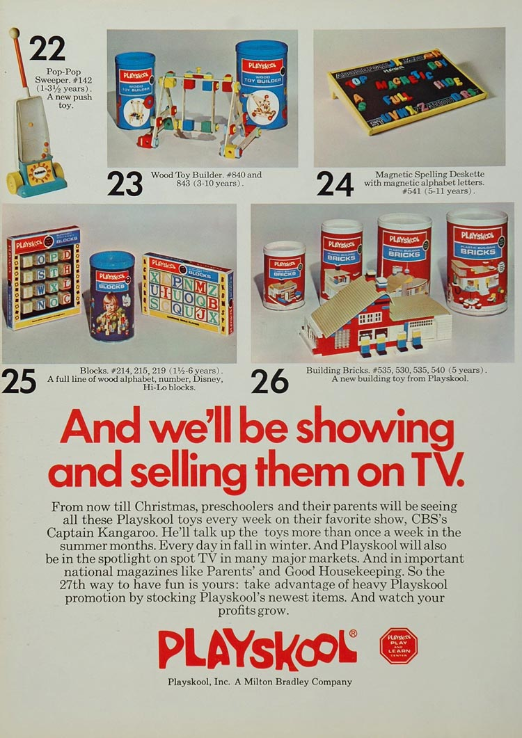 1971 Ad Playskool Preschool Toys Record Player People - ORIGINAL TOYS71