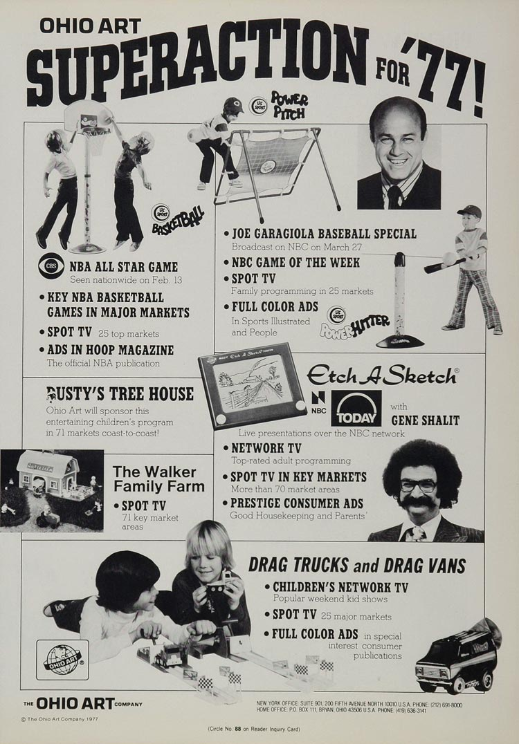 1977 Ad Ohio Art Toys Etch A Sketch Walker Family Farm - ORIGINAL TOYS77