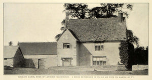 1909 Print Ancestral Home Lawrence Washington Sulgrave Manor Brington TRV1