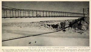 1929 Print Cameron Bridge Antique Automobile Little Colorado River TRV1