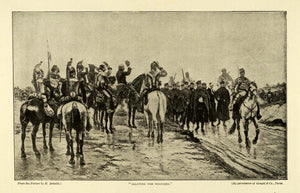 1900 Print Edouard Detaille Art Saluting Wounded Army Military Calvary TSM1