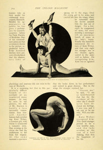 1908 Article Circus Acrobatics Boyston India Marinelli Contortionists TSM1