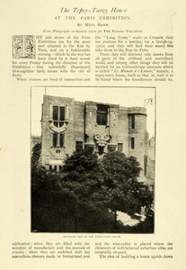 1900 Article Paris Exhibition Upside Down Castle Tipsy Turvy House TSM1
