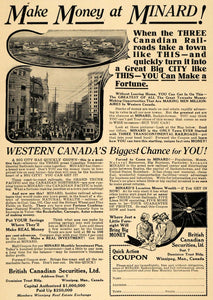 1914 Ad Minard Canada Money Maker Railway Convergence - ORIGINAL ADVERTISING TW1