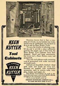 1908 Ad E C Simmons Hardware Vintage Keen Kutter Tool Cabinets Household TW1