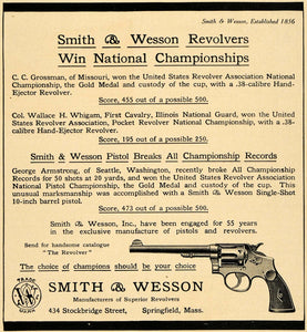 1911 Ad Smith Wesson United States Defense Revolver National Championship TW3
