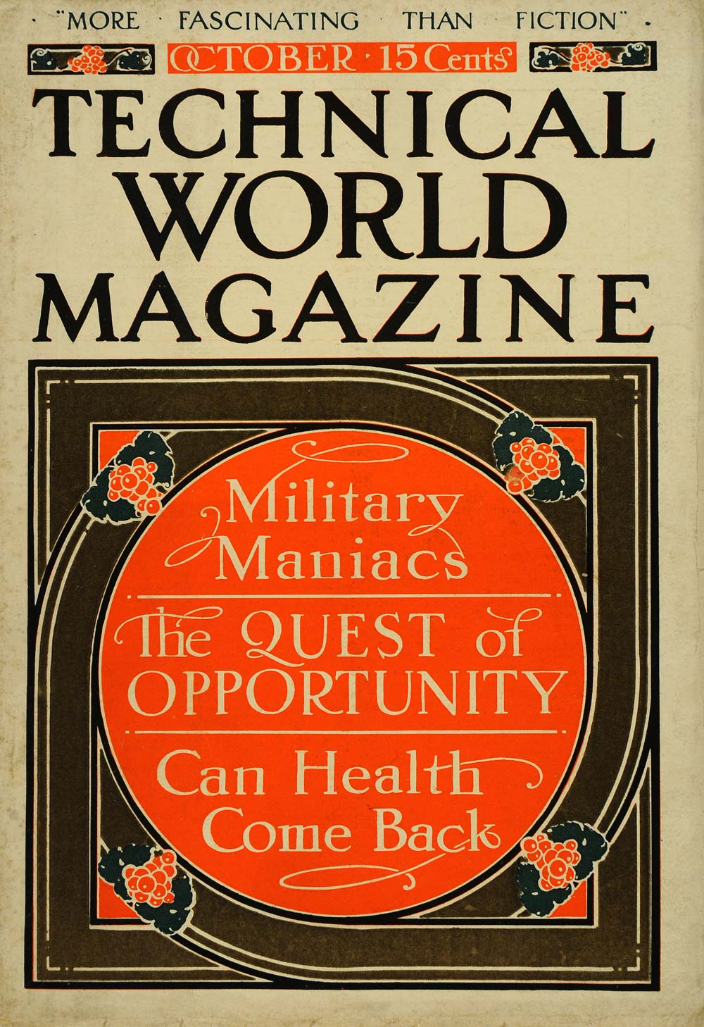 1911 Cover Military Maniac Fred Stearns Health Quest - ORIGINAL TW3
