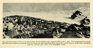 1913 Print Beardmore Glacier Captain Scott Explore Pole ORIGINAL HISTORIC TW3