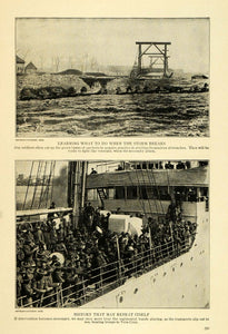 1915 Print Trench Warfare Regimental Band Army Navy WWI ORIGINAL HISTORIC TW4
