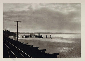 1927 Photogravure Puget Sound Estuarine Washington E. O. Hoppe Waterways US1