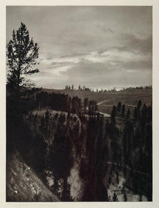 1927 Sunset Solfatara Plateau Yellowstone Wyoming Hoppe - ORIGINAL US2